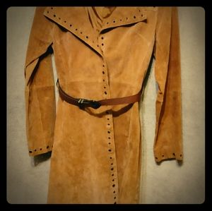 Womens Leather Jacket w/ belt